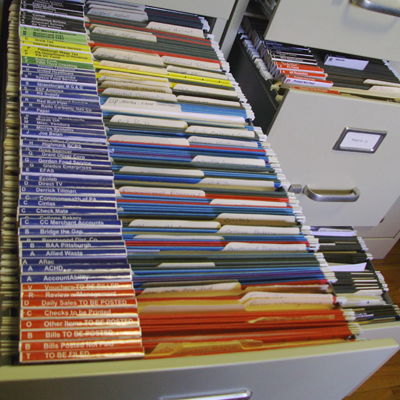 Organized Drawer Full of Segregated Files and Folders